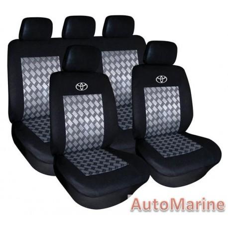 9 Piece Toyota - Black Seat Cover Set