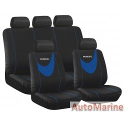 9 Piece Mamdial - Blue Seat Cover Set
