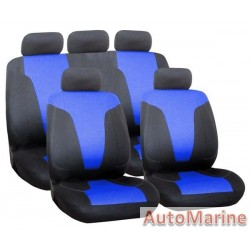 9 Piece Rapid - Blue Seat Cover Set