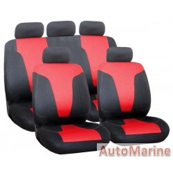 9 Piece Rapid - Red Seat Cover Set