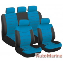 9 Piece X Type - Blue Seat Cover Set