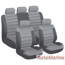 9 Piece X Type - Grey Seat Cover Set