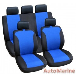 9 Piece Grace - Blue Seat Cover Set