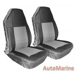 Waterproof Heavy Duty Front Seat Cover Set - Grey