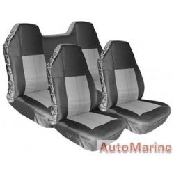 Waterproof Heavy Duty Seat Cover Set - Grey