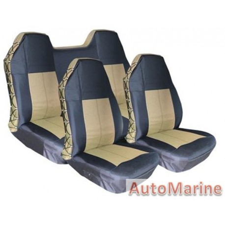 Waterproof Heavy Duty Seat Cover Set - Mocha