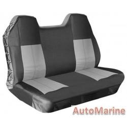 Waterproof Heavy Duty Rear Seat Cover - Grey