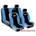 8 Piece West Coast - Blue  Seat Cover Set