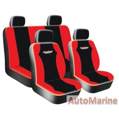 8 Piece West Coast - Red Seat Cover Set