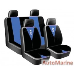 8 Piece Dragon Master - Blue Seat Cover Set