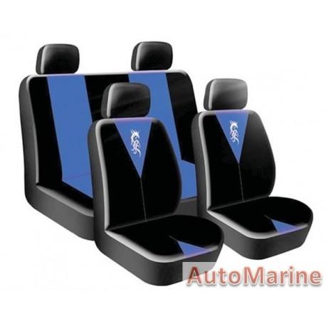8 Piece Dragon Master - Blue Seat Cover Set