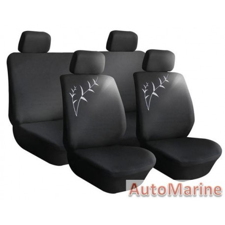 8 Piece X-TREND - Black Seat Cover Set