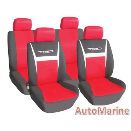 8 Piece TRD - Red Seat Cover Set