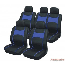 10 Piece SUV Seat Cover Ser - Blue Seat Cover Set
