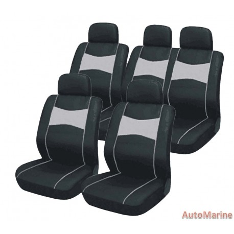 10 Piece SUV Seat Cover Set - Grey Seat Cover Set