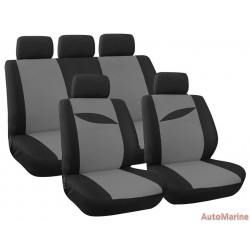 9 Piece Leaf - Grey Seat Cover Set