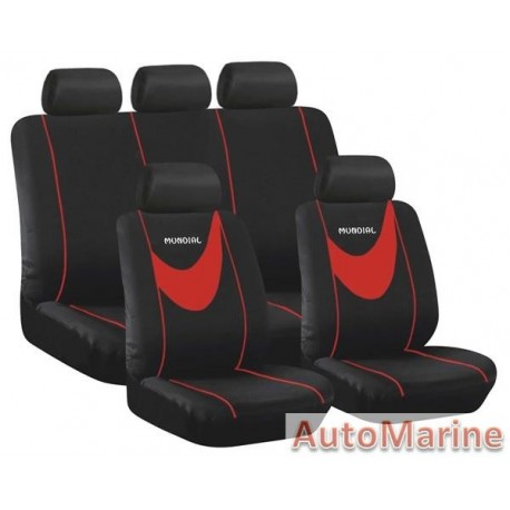 9 Piece Mamdial - Grey Seat Cover Set