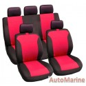 9 Piece Grace - Red Seat Cover Set