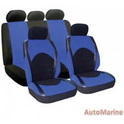 9 Piece Dino - Blue Seat Cover Set