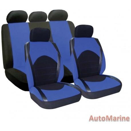 9 Piece Dino - Blue Seat Cover Set