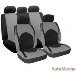 9 Piece Dino - Grey Seat Cover Set