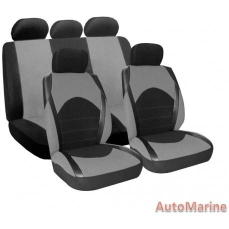9 Piece Dino - Grey Seat Cover Set