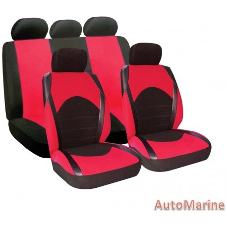 9 Piece Dino - Red Seat Cover Set