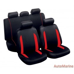 9 Piece Spa - Red Seat Cover Set
