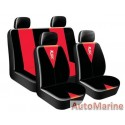8 Piece DRAGON MASTER - RED Seat Cover Set