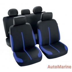 9 Piece Spool - Blue and Black Seat Cover Set