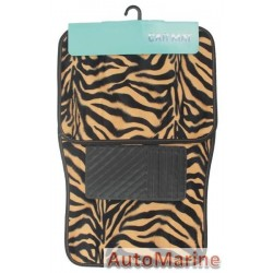 Car Carpet Set - 4 Piece - Animal Print Tiger