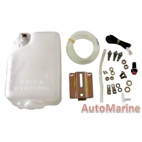 Universal Windscreen Washer Kit - 12 Volt