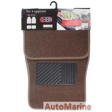 Car Carpet Set - 4 Piece - Brown