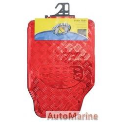 Car Mat Set - Red