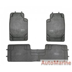 Car Mat Set - Black - 3 Piece - PVC