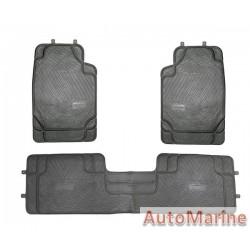 Car Mat Set - Black - 3 Piece - PVC