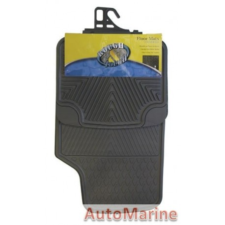 Car Mat Set - Rubber - 4 Piece