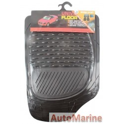 Mat Set - 4 Piece Black 3Kg - PVC