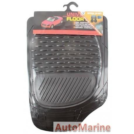 Mat Set - 4 Piece Black 3Kg - PVC
