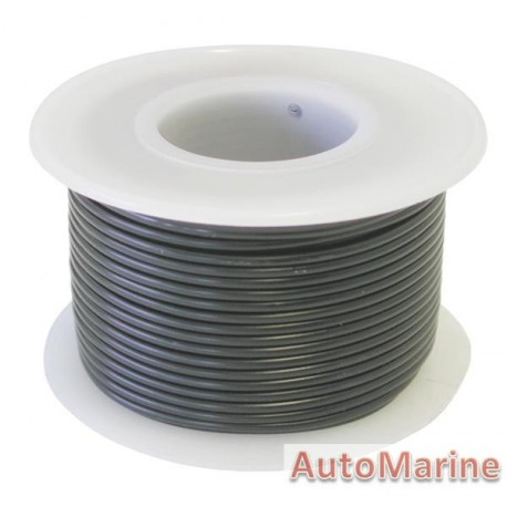 Cable Black 0.80mm - 30M Reel