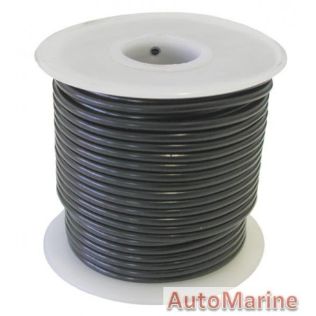 Cable Black 3.00mm - 30M Reel
