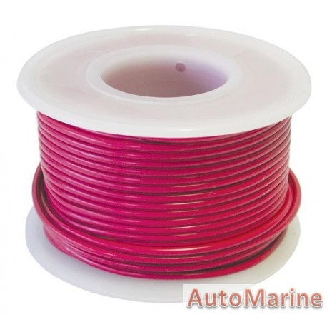 Cable Red 0.80mm - 30M Reel