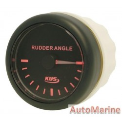 Rudder Angle Meter - 52mm - Black