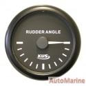 Rudder Angle Meter - 52mm - Black
