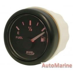 Fuel Level Gauge - 52mm - Black