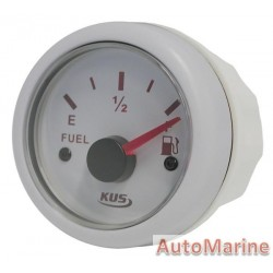 Fuel Level Gauge - 52mm - White