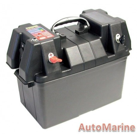 Marine Battery Box with Power Pack - No Battery Incl