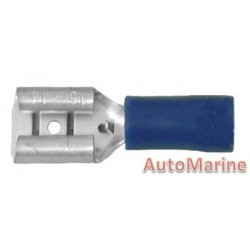 Blue Terminal Female - 6.3mm - 100 Pieces