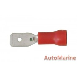 Red Male Terminal - 4.8mm - 100 Pieces