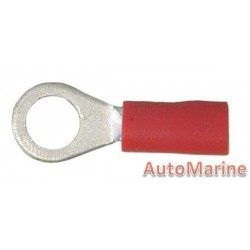 Red Ring Terminal - 5.3mm - 100 Pieces
